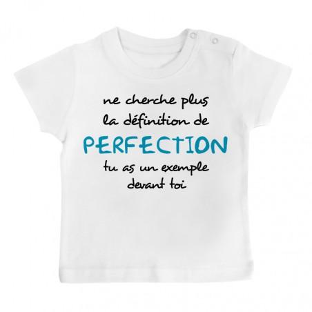 T-Shirt bébé La définition de PERFECTION ( version garçon )