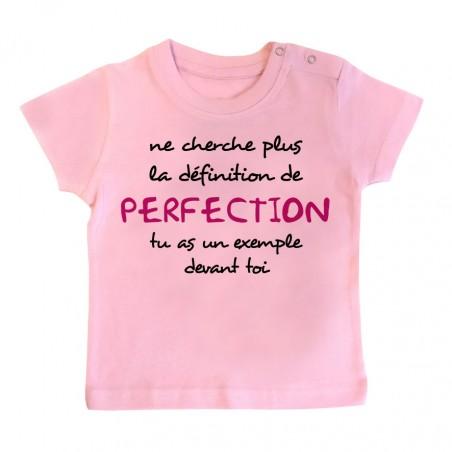 T-Shirt bébé La définition de PERFECTION ( version fille )