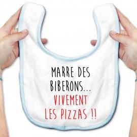 Bavoir bébé Vivement les pizzas