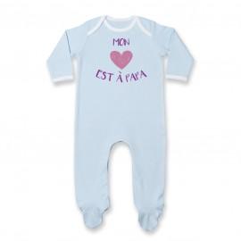 Pyjama bébé Mon coeur est à papa