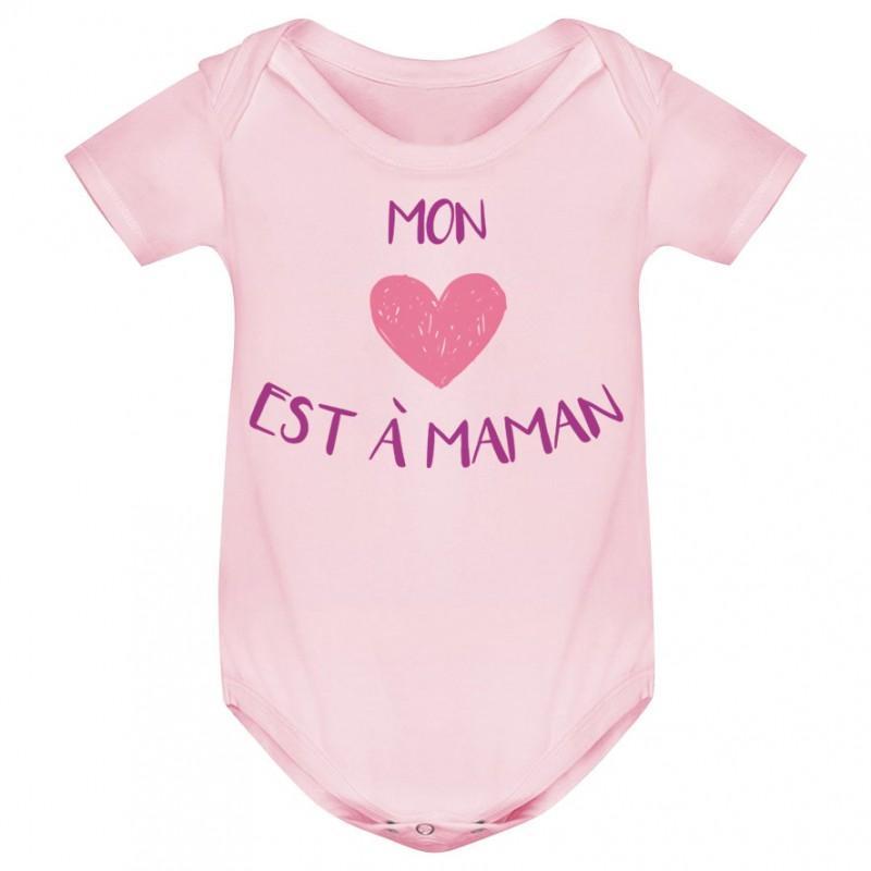 Body bébé Mon coeur est à maman