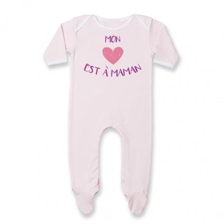 Pyjama bébé Mon coeur est à maman