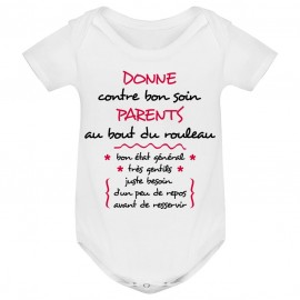 Body bébé Donne parents contre bon soin