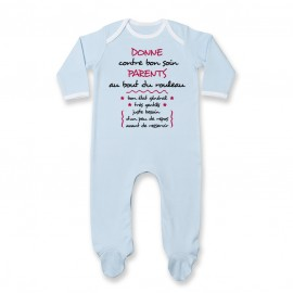 Pyjama bébé Donne parents contre bon soin