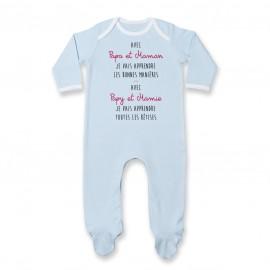 Pyjama bébé Avec papy et mamie j'apprends les bêtises