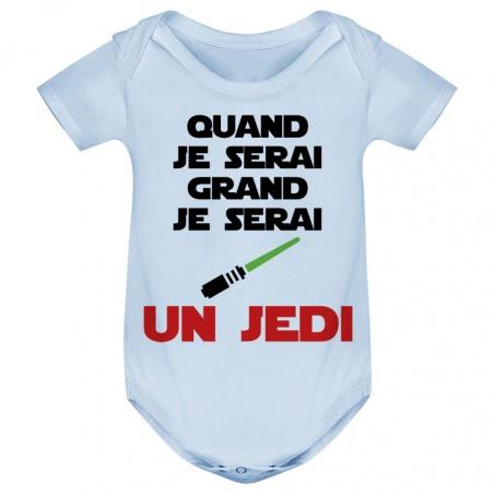 Body bébé Quand je serai grand je serai un JEDI