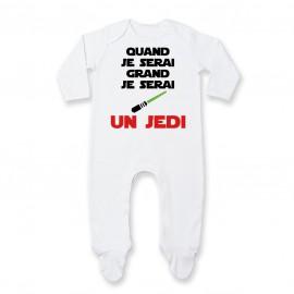 Pyjama bébé Quand je serai grand je serai un JEDI