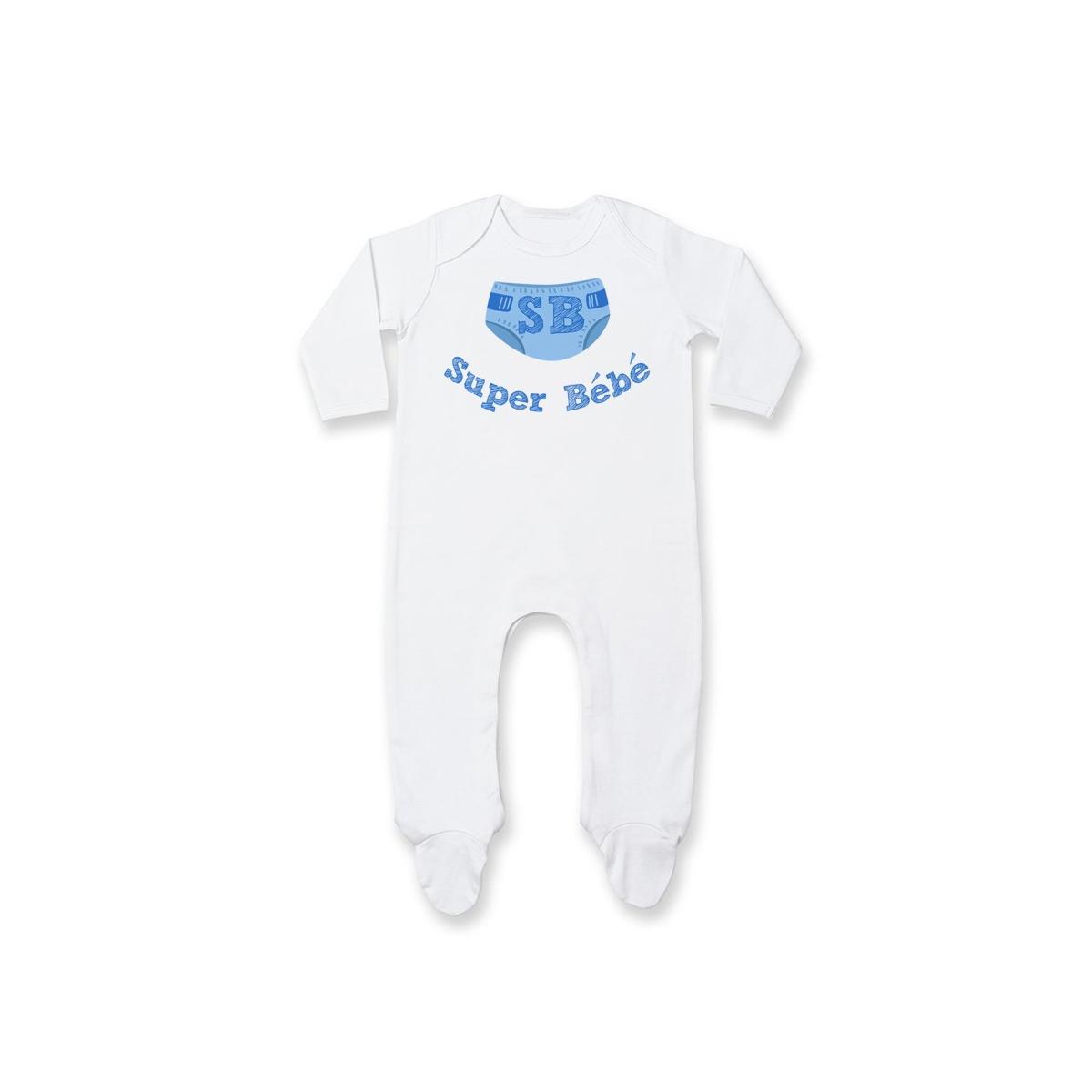 Pyjama bébé Super Bébé ( version garçon )