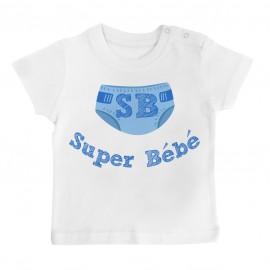 T-Shirt bébé Super Bébé ( version garçon )