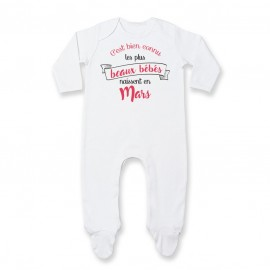 Pyjama bébé Les plus beaux bébés naissent en MARS