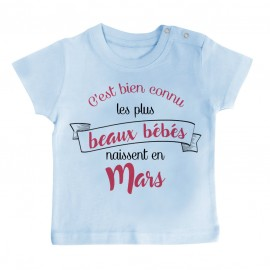 T-Shirt bébé Les plus beaux bébés naissent en MARS