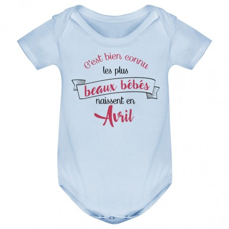 Body bébé Les plus beaux bébés naissent en AVRIL