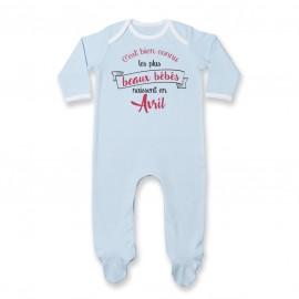 Pyjama bébé Les plus beaux bébés naissent en AVRIL