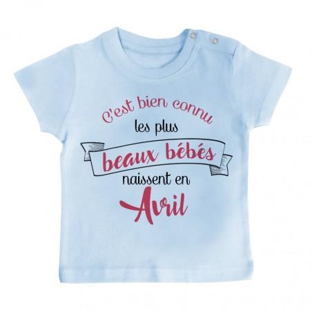 T-Shirt bébé Les plus beaux bébés naissent en AVRIL