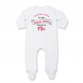 Pyjama bébé Les plus beaux bébés naissent en MAI