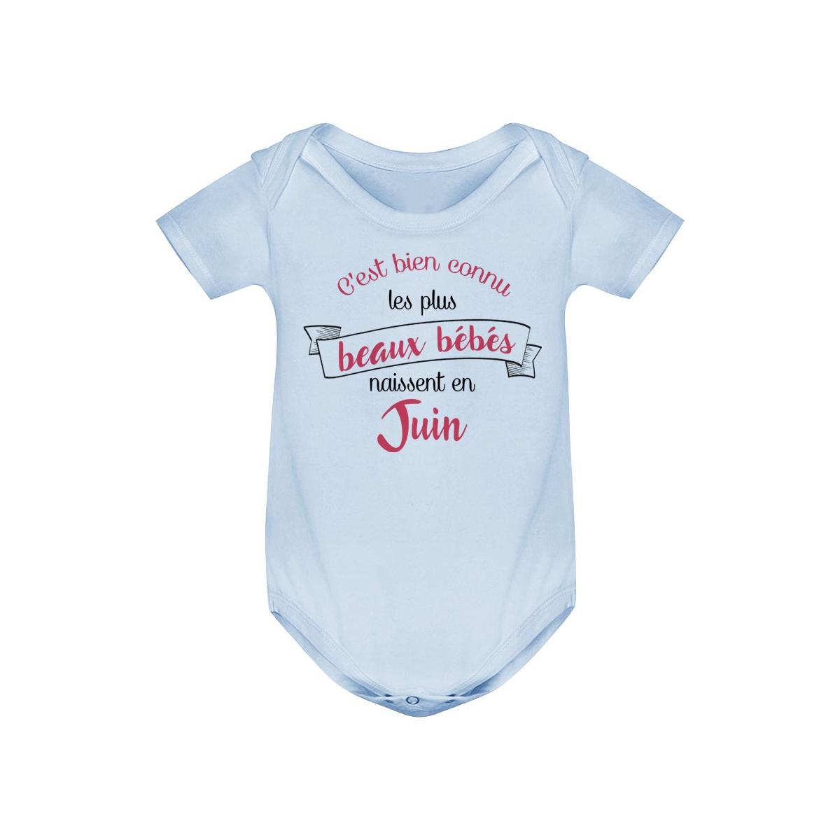 Body bébé Les plus beaux bébés naissent en JUIN