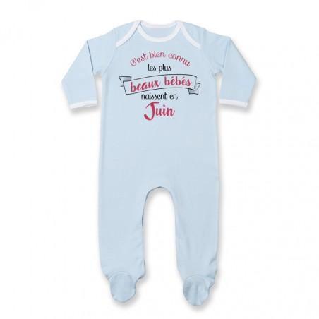 Pyjama bébé Les plus beaux bébés naissent en JUIN