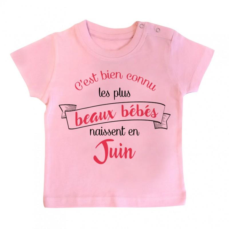 T-Shirt bébé Les plus beaux bébés naissent en JUIN