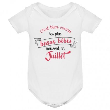 Body bébé Les plus beaux bébés naissent en JUILLET