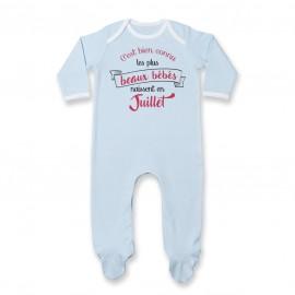 Pyjama bébé Les plus beaux bébés naissent en JUILLET