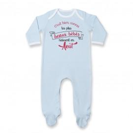 Pyjama bébé Les plus beaux bébés naissent en AOUT