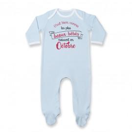 Pyjama bébé Les plus beaux bébés naissent en OCTOBRE