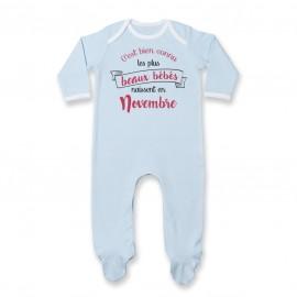 Pyjama bébé Les plus beaux bébés naissent en NOVEMBRE