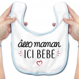 Bavoir bébé Allo maman ici bébé