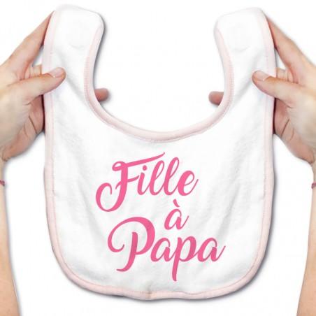 Bavoir bébé Fille à Papa ( version fille )