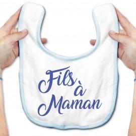 Bavoir bébé Fils à Maman - bleu