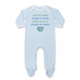 Pyjama bébé Avant de changer le monde, faudra changer ma couche