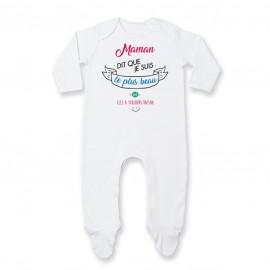 Pyjama bébé Maman dit que je suis le plus BEAU