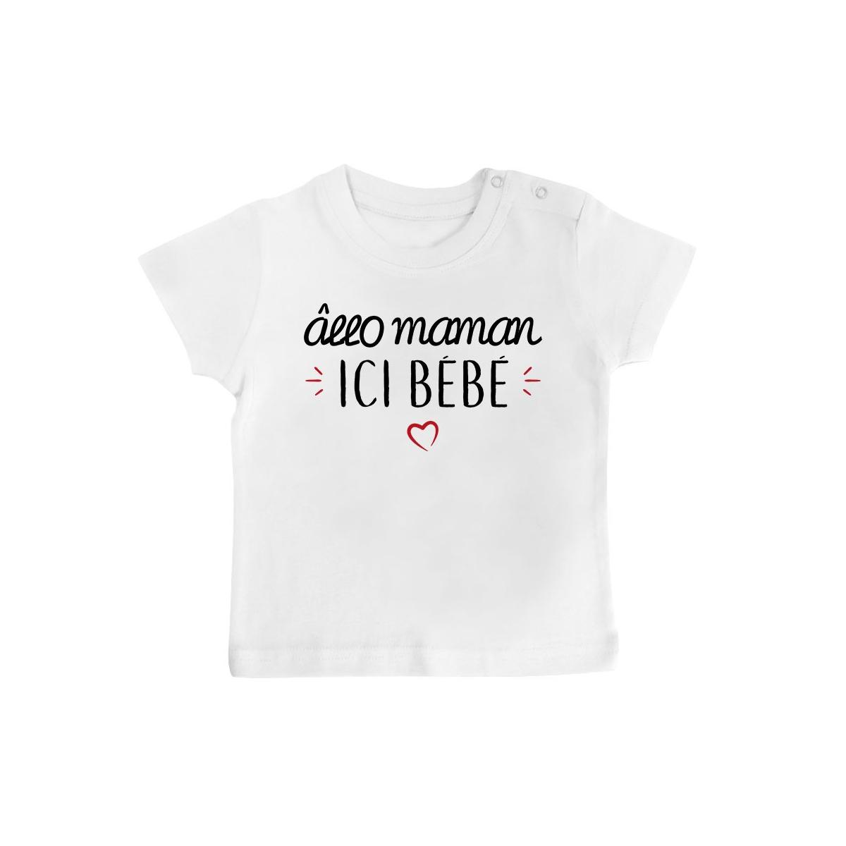T-Shirt bébé Allo maman ici bébé