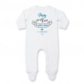 Pyjama bébé Papy dit que je suis le plus BEAU