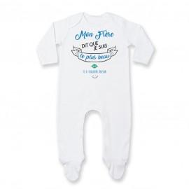 Pyjama bébé Mon Frère dit que je suis le plus BEAU