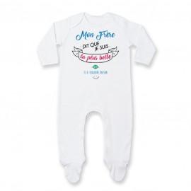 Pyjama bébé Mon Frère dit que je suis la plus BELLE