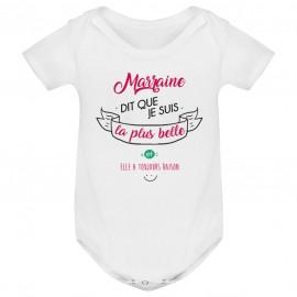 Body bébé Marraine dit que je suis la plus BELLE