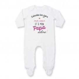 Pyjama bébé Désolée les gars mon coeur est à mon papa
