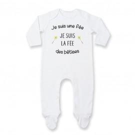 Pyjama bébé Je suis la fée des bêtises