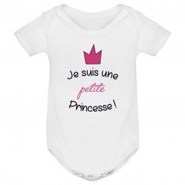 Body bébé Je suis une petite princesse