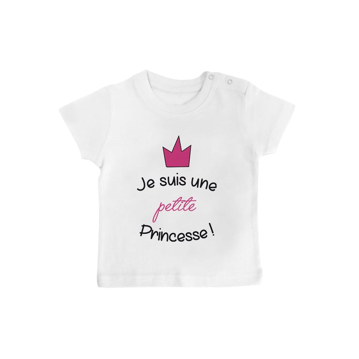 T-Shirt bébé Je suis une petite princesse
