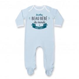 Pyjama bébé Le plus beau bébé du monde c'est moi ( version garçon )
