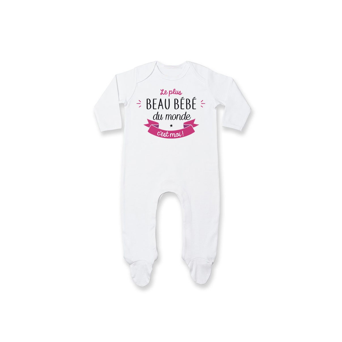Pyjama bébé Le plus beau bébé du monde c'est moi ( version fille )