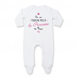 Pyjama bébé On ne touche pas à la princesse de papa