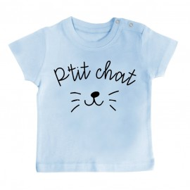 T-Shirt bébé P'tit chat