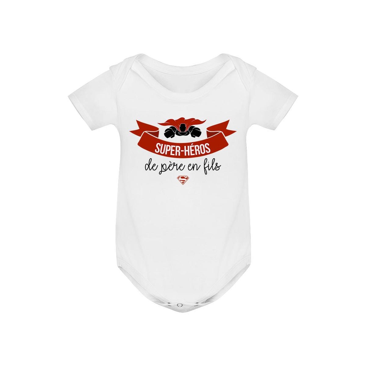 Body bébé Super-héros de père en fils