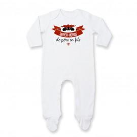 Pyjama bébé Super-héros de père en fils