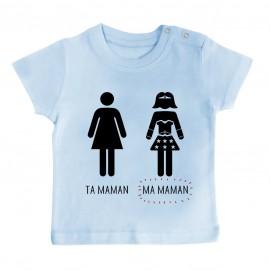 T-Shirt bébé Ta maman, Ma maman