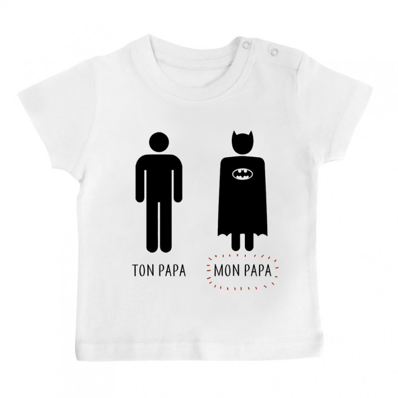 t shirt b b ton papa mon papa. Black Bedroom Furniture Sets. Home Design Ideas