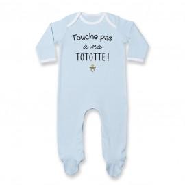Pyjama bébé Touche pas à ma tototte